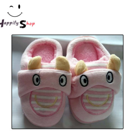 Pink Baby Shoes Smooth and Full towel